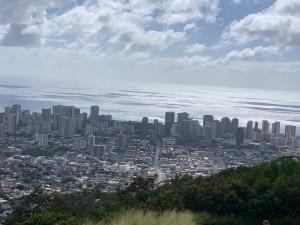 ハワイのビル群